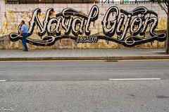 Un Gijn de lucha. (Manuelbv) Tags: grafitti carretera gijn naval expo2015