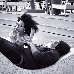 Ella piensa mientras él duerme (JJBas) Tags: square squareformat siesta hudson pensamientos pensativa peloafro iphoneography instagramapp uploaded:by=instagram
