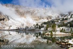 Lake Solitude (NateKat Photography) Tags: mist snow backpacking wyoming alpinelake grandtetonnationalpark lakesolitude tetoncresttrail canon7d