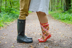 Shooting Waldsee (Oli_21) Tags: lake tree water rain forest germany 50mm see nikon wasser dress legs boots sigma trunk hunter wellies wald baum gummistiefel beine stamm stiefel waldsee kleid d5100 bestcapturesaoi elitegalleryaoi