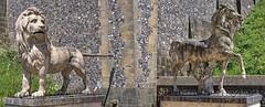 Guardians (jasjo) Tags: horse castle statue canon guard lion arundel hdr guardian 500d easyhdr ti1
