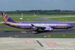 Etihad A330 a6-afa (merlyn.pauley) Tags: germany airport purple airbus dusseldorf a330 airliner etihad dusseldorfairport a6afa visitabudhabi dusseldorfairportgermany