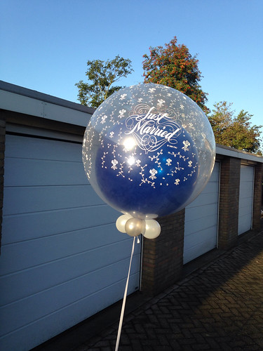 Cloudbuster Rond Just Married Blauw