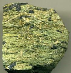 Glaucophane schist (Attic-Cycladic Crystalline Complex, Cretaceous to Eocene metamorphism, 78 to 42 Ma; NW end of Siphnos Island, western Cycladic Islands, southwestern Aegean Sea) 3 (jsj1771) Tags: aegean blueschist schist siphnos glaucophane