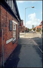 The 'Elm from North Sreet (tatrakoda) Tags: old uk england urban history film 35mm geotagged town pub inn nikon kodak britain lincolnshire analogue f5 gainsborough publichouse northstreet mocktudor elmcottage ektar100 dn21