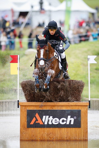 Alex and Harbour Pilot C tackle the cross country at the World Equestrian Games 2014 Photo Xia Yuanpu