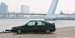 My ex Citroën BX 19 TZD (1991) (XBXG) Tags: auto old bridge haven france holland classic netherlands car port vintage french rotterdam automobile erasmus diesel nederland citroën voiture pont 1991 frankrijk brug 19 paysbas erasmusbrug ancienne bx française citroënbx tzd dgdd22