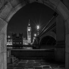 London   |   Westminster through the Arch (JB_1984) Tags: bigben palaceofwestminster housesofparliament river thames riverthames westminsterbridge arch squareformat starburst mono blackandwhite bw lambeth londonboroughoflambeth london england uk unitedkingdom nikon d7100 nikond7100 explore explored
