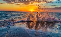 Wave Action (Explore 9-6-2014) (Mi Bob) Tags: grandhaven