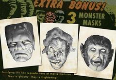 Moon Monster paper masks