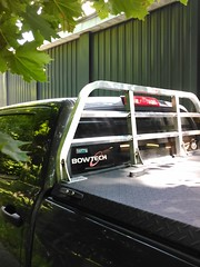 Prototype Headache Rack (DiamondBack Truck Covers) Tags: pickuptruck prototype toyota hr tundra diamondback bluetruck diamondplate tonneaucover truckbedcover driversideview mediumtodarkgraytruck diamondbackheadacherack