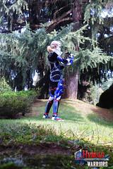 Sheikah Warrior (DrosselTira) Tags: blue costume outfit smash play time cosplay ninja nintendo version super queen zelda warriors cosplayer harp legend sheik loz ocarina hw hyrule hyrulewarriors