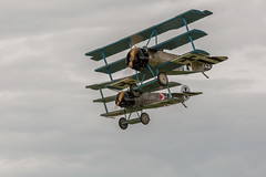 Close Formation Fokker Dr1 Triplane (Explored #325 15/09/14) (John Ambler) Tags: show from two john photography team war close display photos aviation air great formation 325 shoreham ambler fokker dr1 2014 explored triplanes johnambler 150914