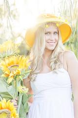 IMG_3948 1 (TJ Boarman) Tags: portrait woman flower beauty sunshine yellow lady outdoor blonde canondslr strobist canon580 canon7d sigma85f14