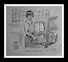 i dream of your first kiss (Broady - Salford art and photography) Tags: art film pencil movie manchester sketch still artwork play drawing picture scene barton salford delaney stills eccles ritatushingham broady broadhurst shelaghdelaney