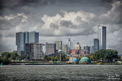 Skyline vanuit Zuid Rotterdam (Rogier Bos) Tags: haven rotterdam maas maassluis portofrotterdam