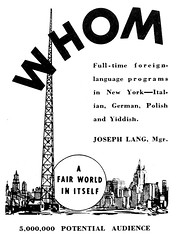whom radio (Al Q) Tags: new york radio joseph italian polish fair german worlds ethnic antenna lang 1939 whom yiddish