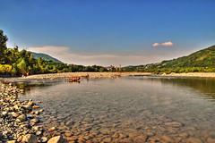 Trebbia (zanin.simone) Tags: italy panorama church water river flow countryside fiume valle pebbles emilia valley hdr trebbia travo valtrebbia