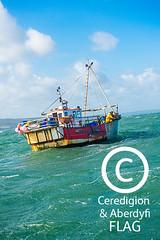 The 'Pen Dinas' boat at sea, off Aberystwyth / Cwch y 'Pen Dinas' yn y môr, oddi ar arfordir Aberystwyth (Ceredigion Fisheries Local Action Group (FLAG)) Tags: uk wales boat town fishing crab aberystwyth lobster welsh cardiganbay seafish inshorefishing johngorman