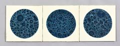1970's tiles (robmcrorie) Tags: blue english tile ceramic deep glaze trent tiles 1970s stoke textured
