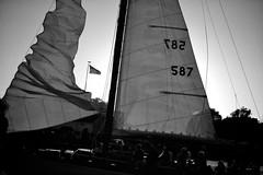 Sailboat at Marthas Vineyard (rsc1027) Tags: ocean b sea bw white black sailboat boats harbor boat marthas vineyard massachusetts w reid cape cod corliss