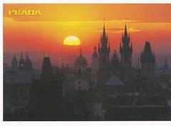 Old Town Towers in Prague, Czech Republic (blueilgu) Tags: sunset prague czech oldtownhalltower churchofourladybeforetýn unesco