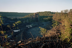 (patrickjoust) Tags: saintnicholasbreaker schuylkillcounty pennsylvania abandoned morning coal view fujicagw690 kodakportra160 6x9 medium format 120 rangefinder 90mm f35 fujinon lens c41 color negative film manual focus analog mechanical patrick joust patrickjoust usa us pa united states north america estados unidos autaut rural breaker dismantled country region