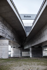 Botlek (BasLoo) Tags: botlek brug bridge under highway road beneath river maas concrete lines pilars pilar grey black dutch flag dirt grease motorway photography dslr canon eos 6d canon6d ef ef50mm 50mm usm f14 114 lens full frame rotterdam port haven