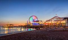 Santa Monica Pier (IRRphotography) Tags: california santamonica ocean pacific pier water rides beach lifeguard sand cali longexposure sky reflection sunset sun dusk lights reflections canon 70d eos