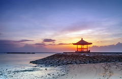 bali island (sandilesmana28) Tags: bali island sunrise orange beach bale bengong water sky cloud