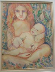 """Sisters"" Portrait (SandraNestle) Tags: sandranestle originalart art watercolor aquarelle fantasy child baby sisters"