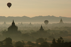 sunrise over bagan by David Haberlah (dbrout1) Tags: sunrise pagoda bravo flickr savedbythedeletemegroup burma stupa accepted1of100 balloon interestingness1 saveme10 myanmar oneyear birma bagan fivestarsgallery refreshedphoto n321fave bratanesque ifttt