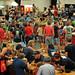 A sea of people attending the fifth annual Maker Faire at the NC State Fairgrounds.