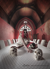 Symbiosis (Sshhhh...) Tags: vintage table skulls mask gothic twin mansion manor gemini beams merged nightie sshhhh