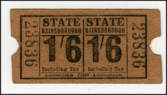 "A Ticket for the ""Flicks"" (tatraškoda) Tags: old uk england urban cinema history town state ticket lincolnshire gainsborough dn21"