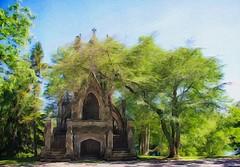 Dexter Mausoleum at Spring Grove (cajaygle) Tags: cemetery cincinnati gothic arboretum mausoleum gothicrevival brushstroke springgrove