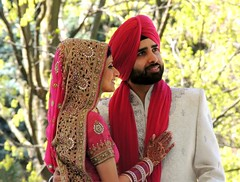 Portrait Of Punjabi Bride & Groom (Greg's Southern Ontario (catching Up Slowly)) Tags: wedding people love smile romance persons punjabi brideandgroom southasian weddingportrait punjabiwedding smilingpeople bramptonontario southasianwedding
