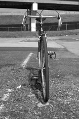 1948 RRA (damonabnormal) Tags: street city urban blackandwhite bw 1948 june fuji raleigh pa philly phl brooks philadephia urbanphotography 2014 vintagebicycle urbanite x100 reynolds531 the215 vintagelightweight theraleigh raleighrecordace