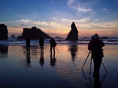 Hey! I thought this was MY great idea! Face Rock State Park - Bandon, Oregon (skipplitt) Tags: ocean light sunset sea seascape reflection beach silhouette oregon america reflections sand surf pacific availablelight tide silhouettes photographers pacificnorthwest northamerica existinglight oregoncoast bandon laplaya pacificcoast seastacks coos bythesea wizardshat americanlandscape cooscounty oregonstatepark facerockstatepark iphonephotography oceanlandscape skipplittphotography skipperplitt