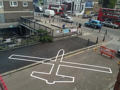 Drone Shadow 007 (STML) Tags: london lift battersea clapham bac drone liftfestival droneshadow