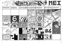 Visual_Diary_2014-005_Mei (joostmarcellis) Tags: marcelvandenberg marcelvandenbergmarcelvandenberggrafischontwerpmspacenl joostmarcellis typografie typo typography type work werk diary visualdiary mylife mylifeindrawings dagboek lifestory adrawingaday 365 drawingaday