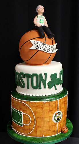 Boston Celtics Cake med