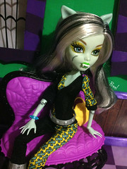 Frankie Inspired to dress like Clawdeen (Baal//Napo.The MH Room.) Tags: monster high dress inspired like freaky fusion frankis clawdeen