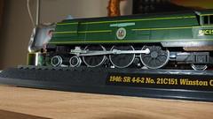 DSCF2117 (John W. Davies) Tags: models trains southern sr steamengine modeltrains southernrailway 462 bulleid staticmodels bulleidlightpacific trainmodels sirwinstonchurchhill staticsteamengine 21c151 bitparts
