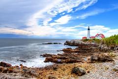 Portland Head Light (Ilirjan Rrumbullaku) Tags: lighthouse beach clouds canon portland eos maine coastline hdr ef1740mmf4lusm canon70d