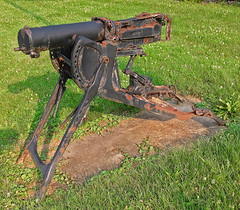 World War 1-era German machine gun (SteveMather) Tags: gun machine worldwari german maxim 4s 08 worldwar1 iphone 2014 watercooled maschinegewher