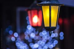 Happy colorful night lights (NathalieSt) Tags: light color colors lights restaurant lumière couleurs couleur lumières