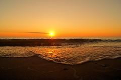 DSC05797P (Scott Glenn) Tags: sunset summer beach water sand wave lakemichigan lakeshore greatlake berriencounty stevensville puremichigan lincolntownshipbeach sonyslta65v