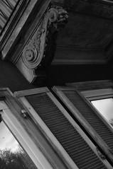 DSC_3317 [ps] - Extrusions of Grandeur (Anyhoo) Tags: urban blackandwhite bw window germany deutschland grey bracket shutter ornate freiburg baden dingy greyscale corbel badenwrttemberg freiburgimbreisgau anyhoo photobyanyhoo
