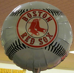 BOSTON RED SOX..... (Daisy.Sue) Tags: baseball balloon supermarket bostonredsox bigy bethelct summer2014 whitenavyred